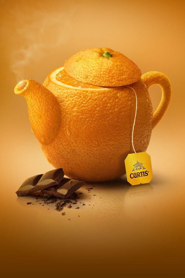 Orange Tea iPhone 4s wallpaper
