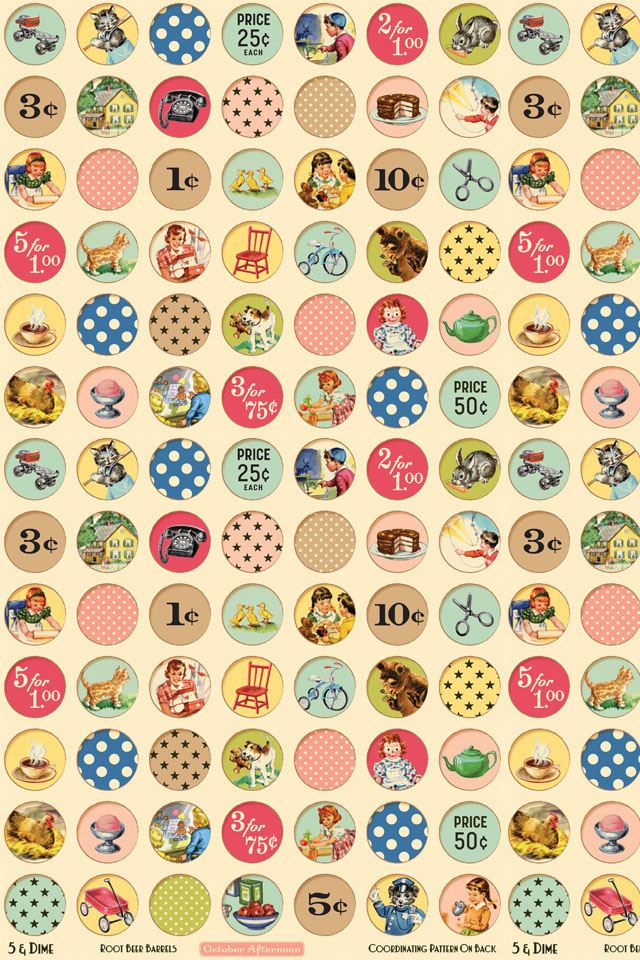 Cartoon circular pattern iPhone 4s wallpaper
