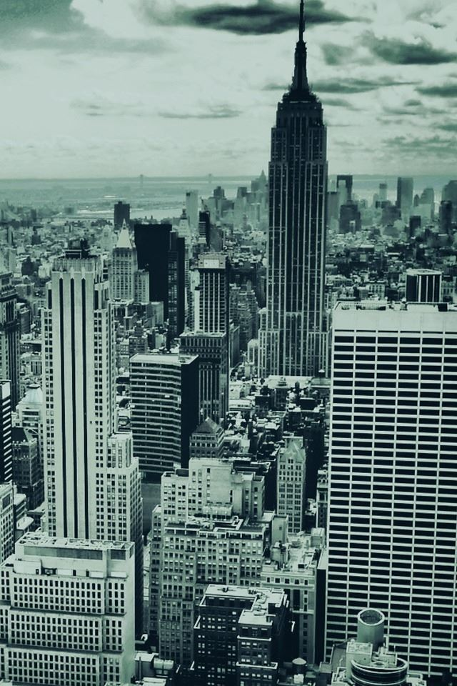 Black And White New York iPhone 4s wallpaper