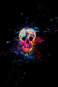 Skull Colorful iPhone 4s wallpaper