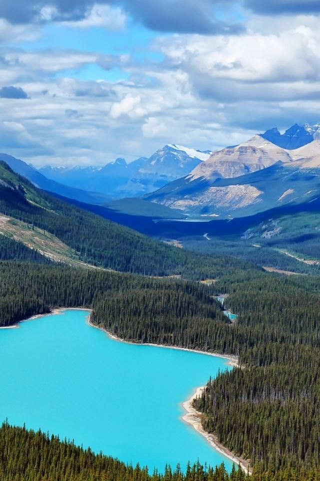 Canada Blue Lake iPhone 4s wallpaper