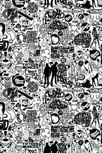 Comics Black And White iPhone 4s wallpaper