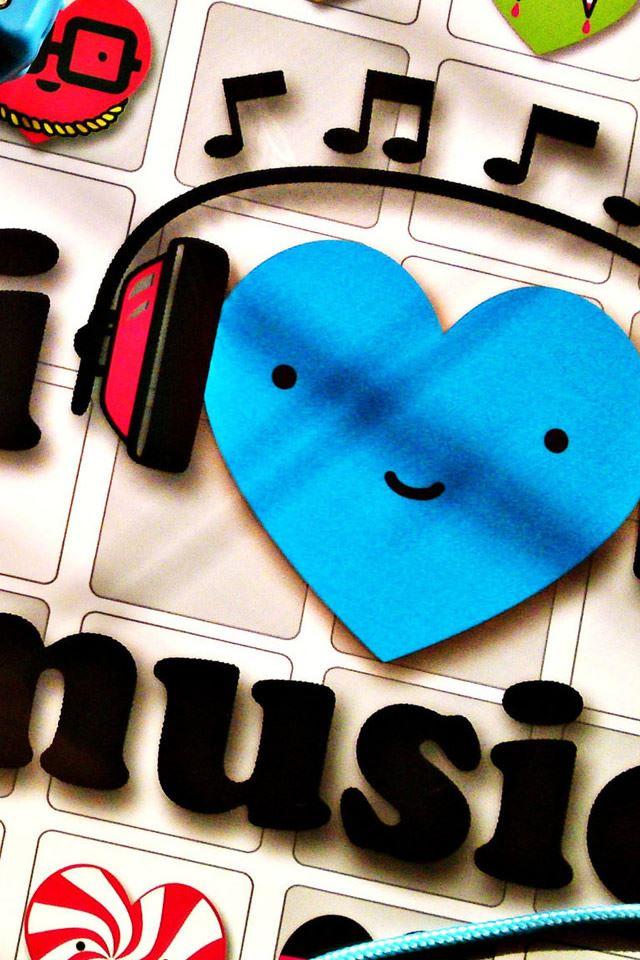 I Love Music IPhone 4s Wallpaper