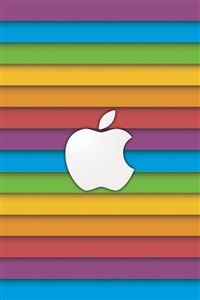 Rainbow Apple iPhone 4s wallpaper