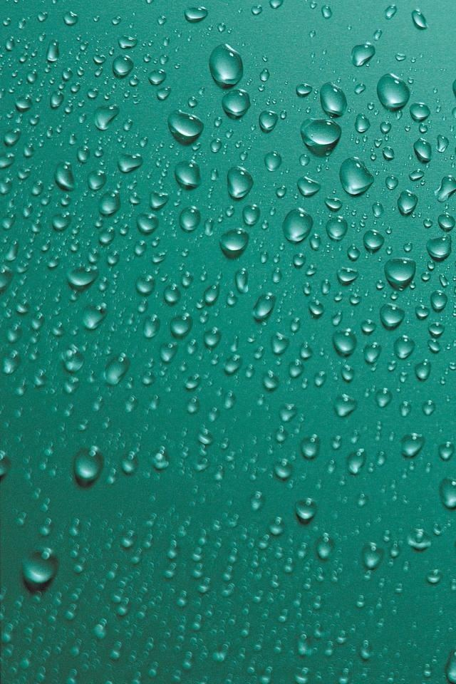 Green Water Droplets Iphone 4s Wallpapers Free Download