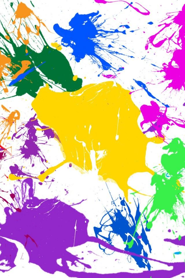 Paint Splatter Colorful iPhone 4s wallpaper