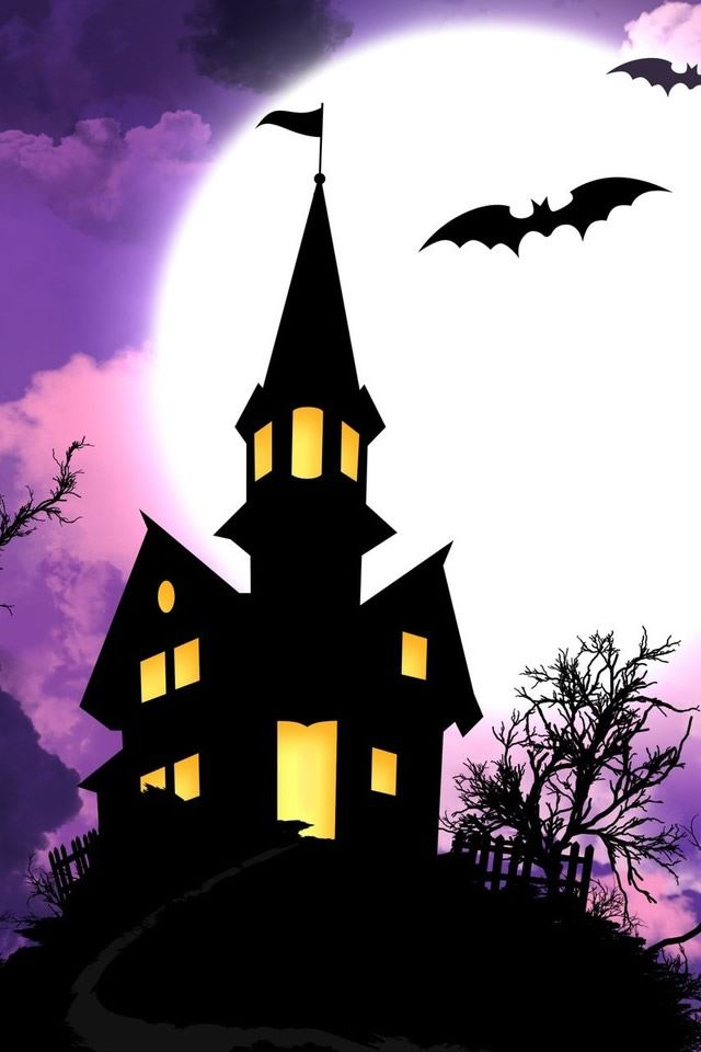 Haunted Castle Holiday HD iPhone 4s wallpaper