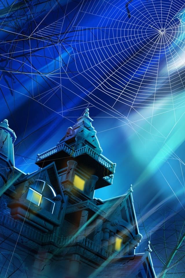 Spooky House Night Hallowmas Halloween iPhone 4s wallpaper