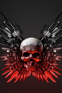 The Expendables Weapons Hd iPhone 4s wallpaper