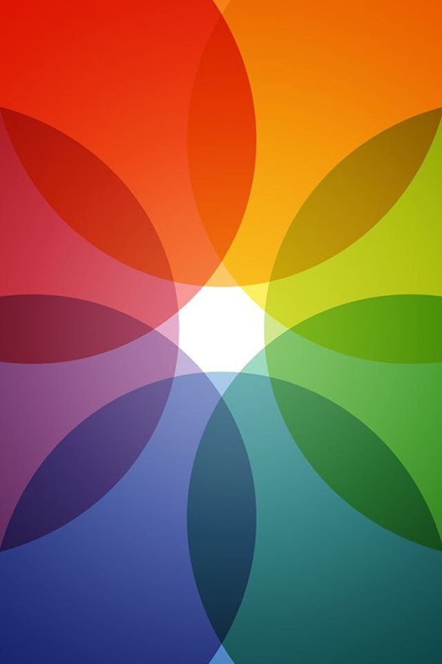 Color ring iPhone 4s wallpaper
