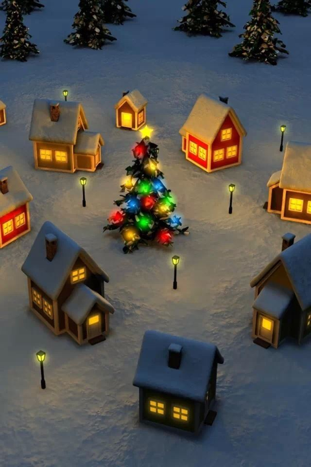 Christmas Eve iPhone 4s wallpaper