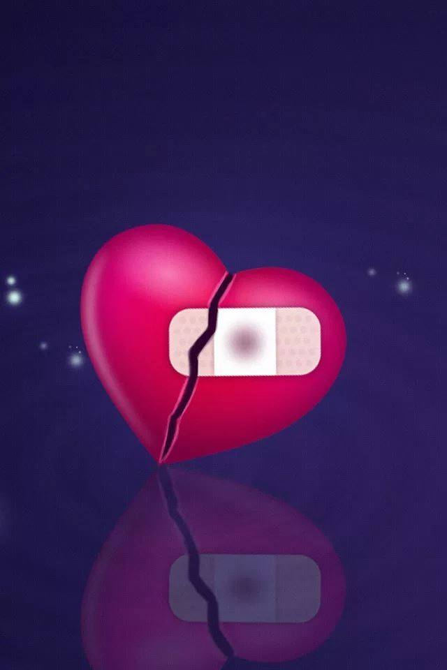 Broken hearts iPhone 4s wallpaper