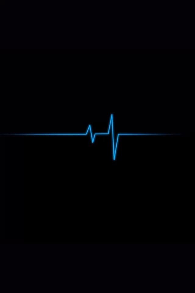 Blue line iPhone 4s wallpaper
