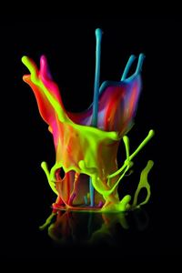 Bright Paint Splash iPhone 4s wallpaper