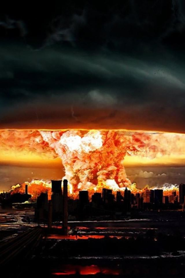 Nuclear Explosion Of Darkness iPhone 4s wallpaper