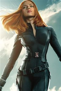 Black Widow In Captain America The Winter Soldier iPhone 4s wallpaper