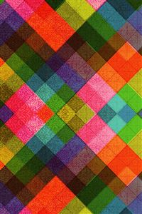 Multicolored Tile Pattern Abstract iPhone 4s wallpaper