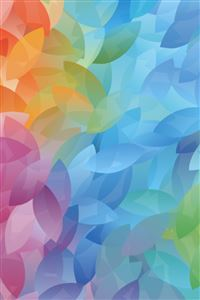 Colorful Overlap Olive Leaves iPhone 4s wallpaper