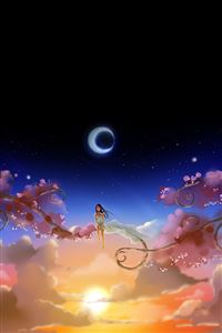 Anime Girl Dreamy Moon iPhone 4s wallpaper