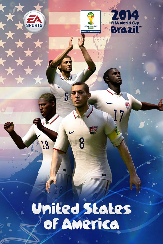 2014 FIFA USA Team iPhone 4s wallpaper