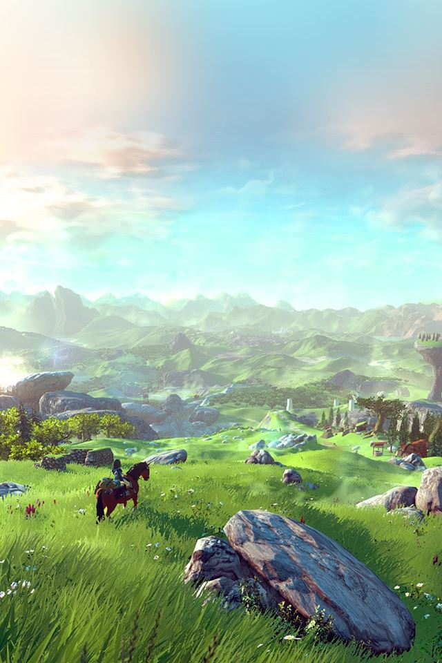 Legend Of Zelda Green Field iPhone 4s Wallpapers Free Download