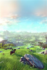 Legend Of Zelda Green Field iPhone 4s wallpaper