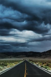 Nature Storm Road iPhone 4s wallpaper
