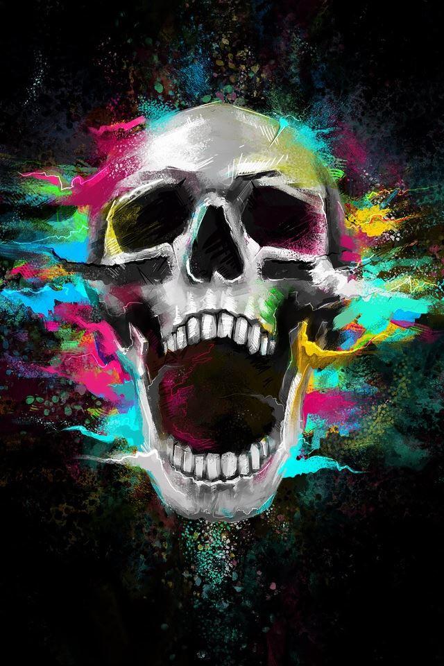 Crazy Shouting Skull Iphone 4s Wallpaper Download Iphone