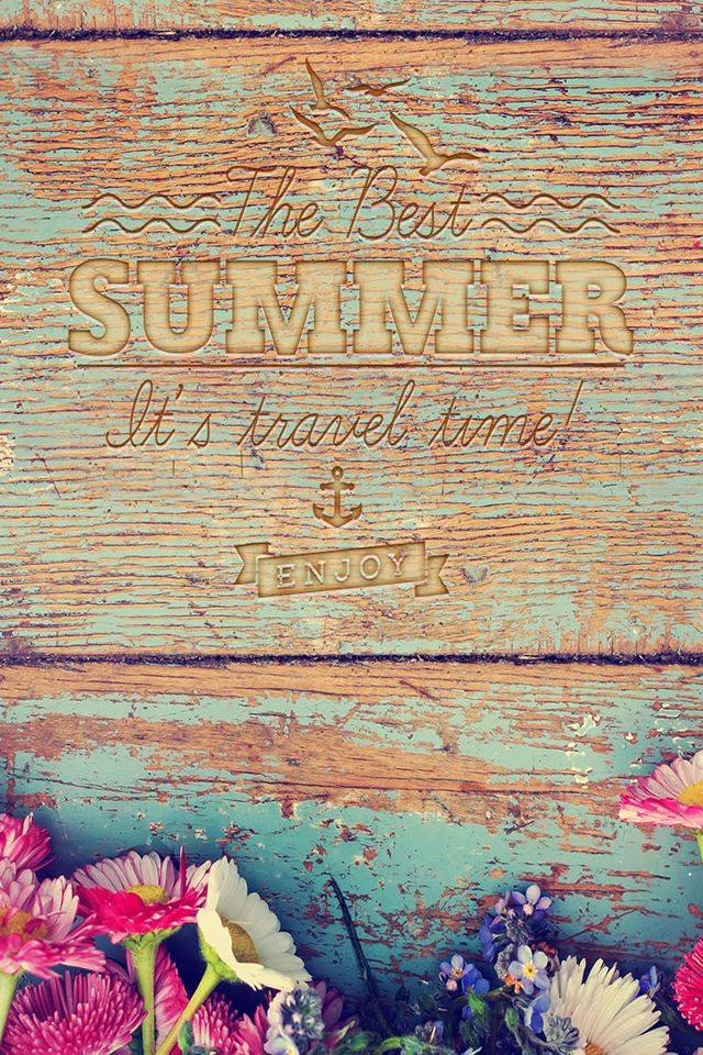 The Best Summer Wooden iPhone 4s wallpaper