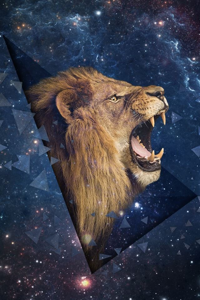 Space Leo Shouting Lion Iphone 4s Wallpapers Free Download
