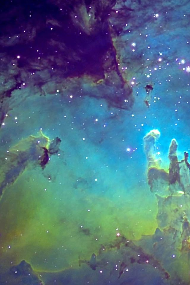 Fantasy Nebula Space iPhone 4s wallpaper
