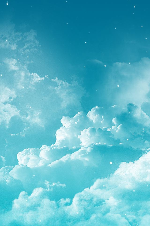 Fantasy Dreamy Cloudy Space iPhone 4s wallpaper