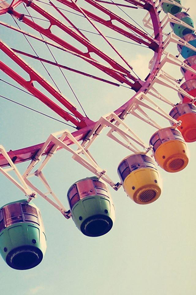 City Happy Ferris wheel Macro iPhone 4s wallpaper