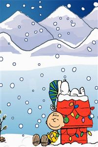 Cartoon Snoopy Christmas iPhone 4s wallpaper