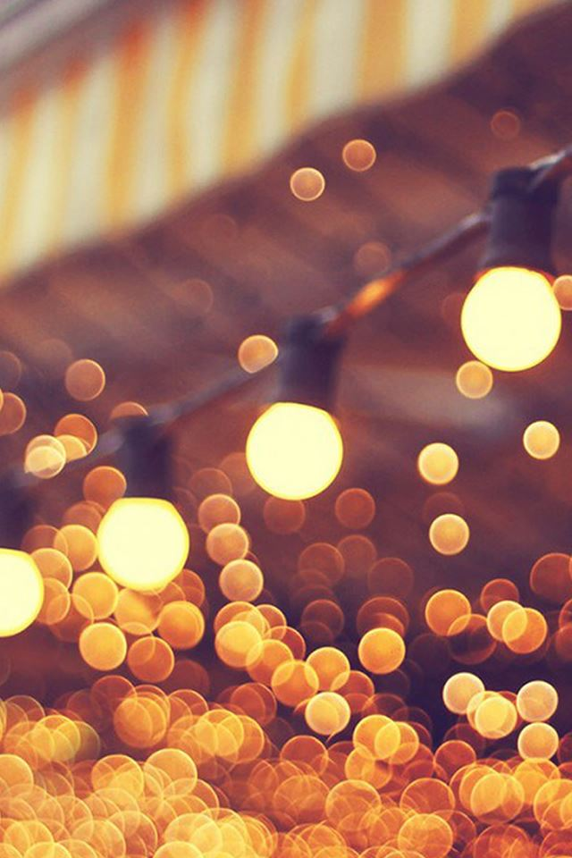 City Light Blue Bulbs Romance Street Scene iPhone 4s wallpaper