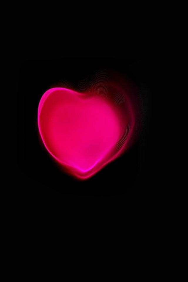 Apple Watch Love Heart Art Illust Dark iPhone 4s wallpaper