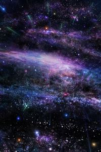 Fantasy Art Star Tree Sky Space iPhone 4s wallpaper