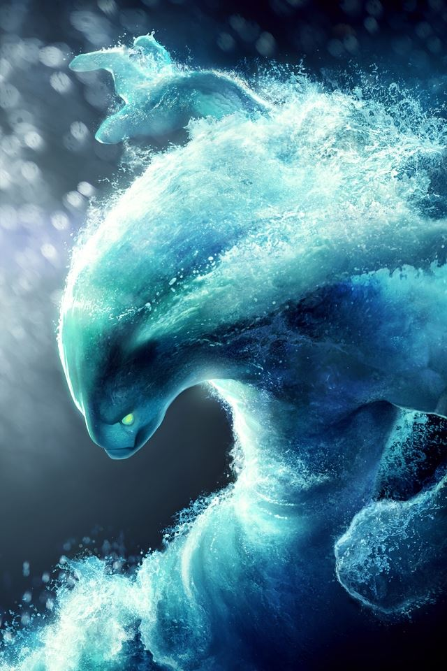 Dota 2 Water iPhone 4s wallpaper