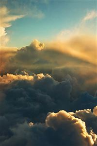 High Thick Cloudy SKy View iPhone 4s wallpaper