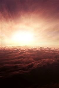 Spectacular Cloudy Outer Space Sunshine Skyscape iPhone 4s wallpaper