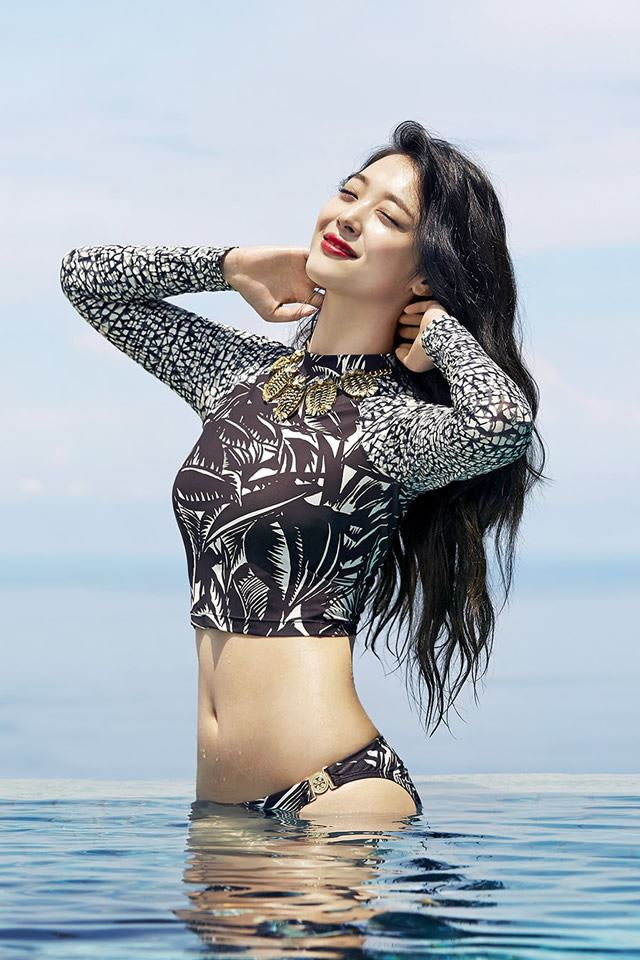 Sunshine Sexy Bikini Korean In Water Iphone 4s Wallpaper Download