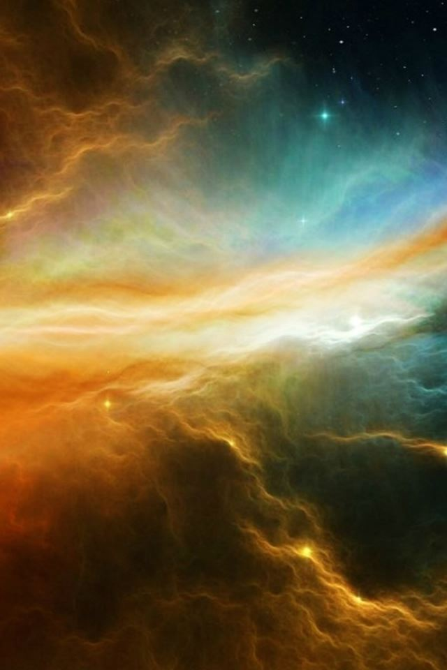 Fantasy Shiny Starry Cloudy Outer Space Skyview iPhone 4s wallpaper