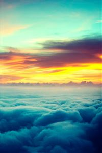 Sunset Thick Clouds Skyview iPhone 4s wallpaper