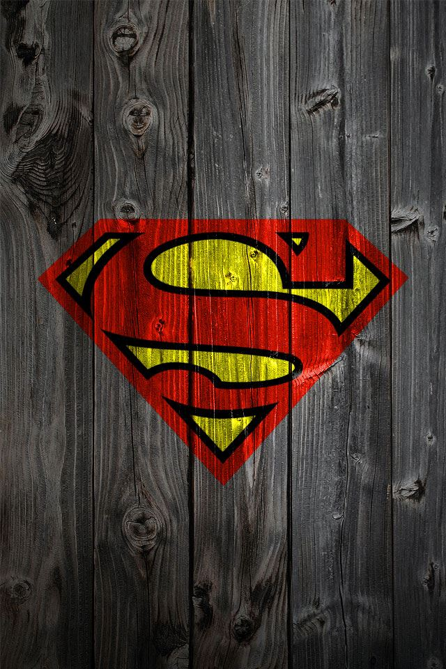 Wooden Superman Logo iPhone 4s wallpaper