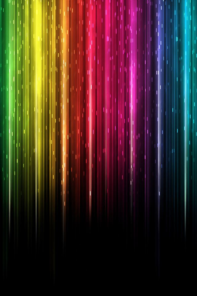 Colorful Lights iPhone 4s wallpaper