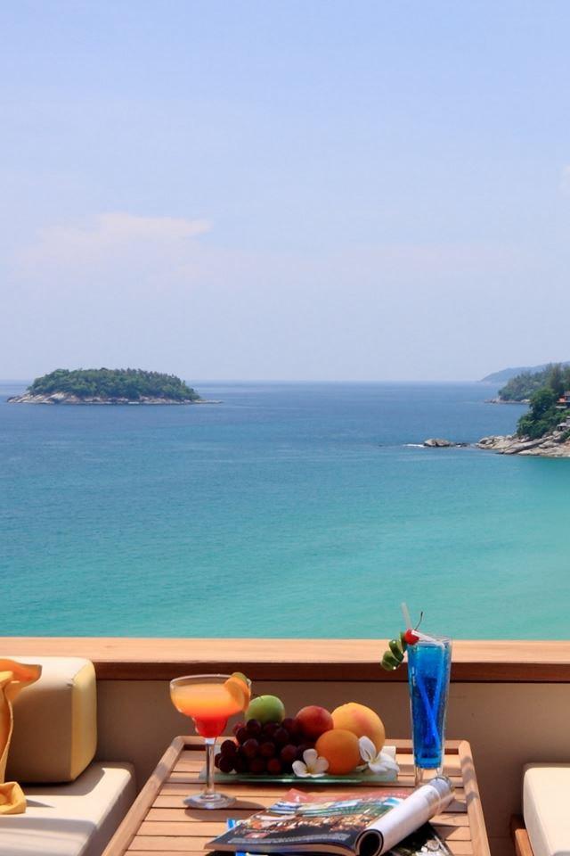 Summer Breakfast Ocean View Iphone 4s Wallpapers Free Download
