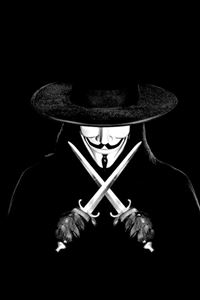 V For Vendetta Man With Knifes iPhone 4s wallpaper