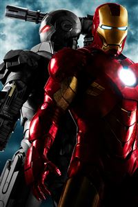 Iron Man and War Machine iPhone 4s wallpaper