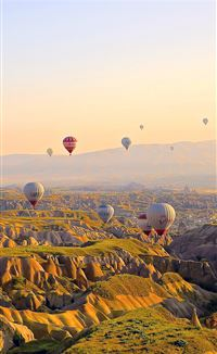 Turkey Balloon Travel Mountain iPhone 4s wallpaper