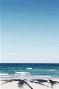 Beach Blue Nature Sea Holiday Water Sky iPhone 4s wallpaper